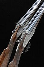 WILLIAM EVANS A PAIR OF 12-BORE SIDELOCK EJECTOR GUNS, NOS. 10394/5 30-inch