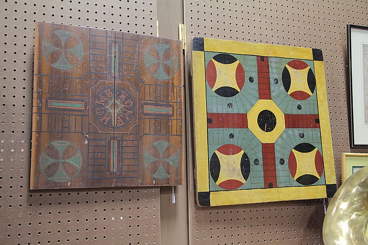 TWO GAME BOARDS.