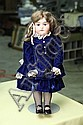BORGFELDT PRINCESS DOLL. Bisque head, sleep eyes, open mouth with four teeth and a jointed composition body. Signed. 21