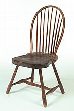 BOWBACK WINDSOR SIDE CHAIR.