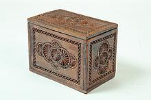 FOLKSY CARVED BOX.