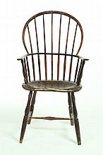 SACK-BACK WINDSOR ARMCHAIR.