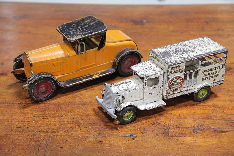 TWO TOY AUTOMOBILES.