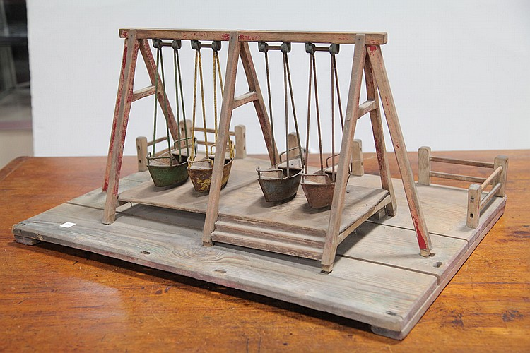 CHILD'S TOY SWING SET.