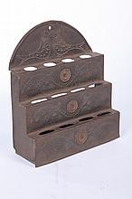 PUNCHED TIN SPOON RACK.