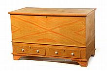 DECORATED BLANKET CHEST.