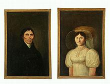 PAIR OF PORTRAITS (AMERICAN SCHOOL, EARLY 19TH CENTURY).