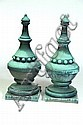 PAIR OF ARCHITECTURAL FINIALS.