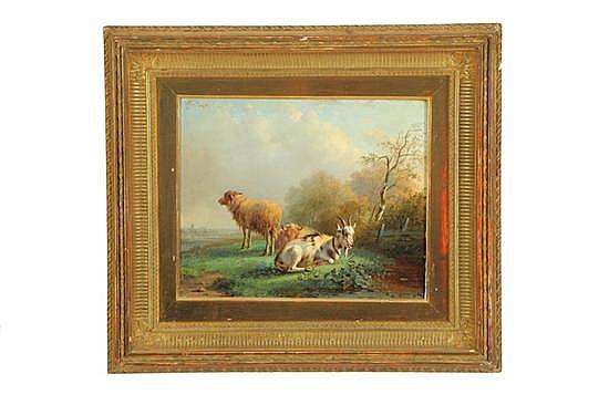 PASTORAL SCENE BY BERNARDUS GERARDUS TEN BERGE (NETHERLANDS, 1825-1875).