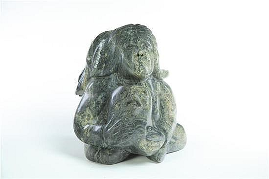 INUIT CARVING BY KAKA ASHOONA (CANADA, 1928-1996).