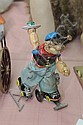 LITHOGRAPHED TIN MECHANICAL POPEYE ROLLER SKATER TOY. Linemar Popeye roller skater mechanical toy. 6.5