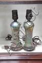 PAIR OF SICARD WELLER TABLE LAMPS.
