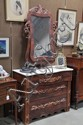 MARBLE TOP VICTORIAN CHEST WITH MIRROR.