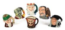 SIX ROYAL DOULTON CHARACTER MUGS OF MYTHICAL BEINGS.
