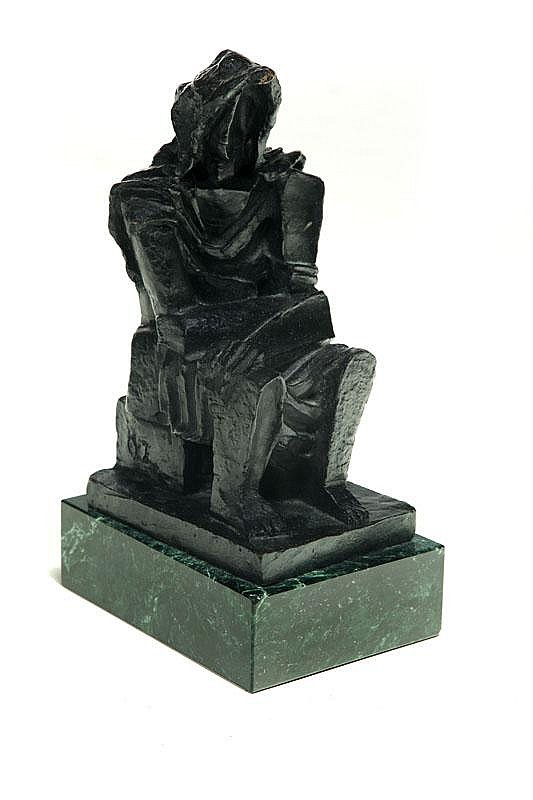 SCULPTURE BY OSSIP ZADKINE (RUSSIAN/FRENCH 1890-1967).