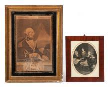 TWO ENGRAVINGS OF GEORGE WASHINGTON.