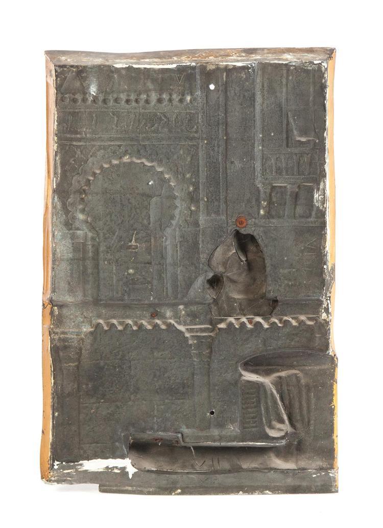cast white metal decorative wall plaque. Black Bedroom Furniture Sets. Home Design Ideas