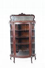 VICTORIAN BOWFRONT CABINET.