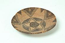 AMERICAN INDIAN BASKETRY TRAY.