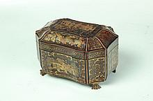 CHINESE EXPORT TEA CADDY.