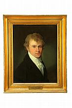 PORTRAIT OF HENRY BURROUGHS BY HENRY WILLIAMS (AMERICAN, 1787-1830).