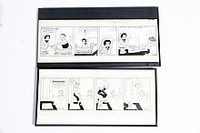 TWO COMIC STRIP ORIGINAL ARTWORKS.