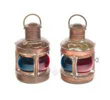 PAIR OF SHIPS LANTERNS.