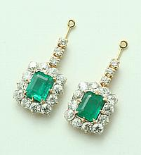 EMERALD AND DIAMOND EARRING JACKETS