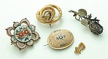 GROUP OF BROOCHES