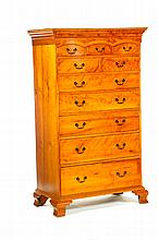 CHIPPENDALE TALL CHEST.