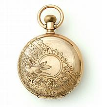 ILLINOIS GOLD FILLED HUNTER CASE POCKET WATCH