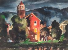 CHURCH BY ALVIN RAFFEL (OHIO, 1905-1987).