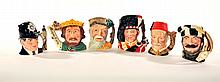 SIX ROYAL DOULTON CHARACTER JUGS.