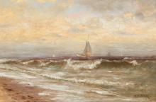 SEASCAPE BY FRANCIS AUGUSTUS SILVA (NEW YORK, 1835-1886).