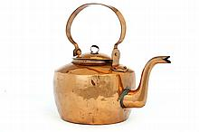 SIGNED COPPER KETTLE.