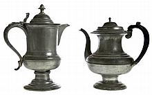 PEWTER PITCHER AND TEAPOT.