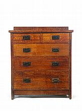 CHEST OF DRAWERS BY GUSTAV STICKLEY.