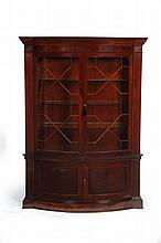BOWFRONT CABINET.