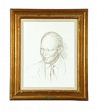 DWIGHT D. EISENHOWER BY WILLIAM DEAN FAUSETT (AMERICA, 1913-1998).