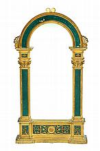 NORTHERN ITALIAN ROMANESQUE REVIVAL MIRROR.