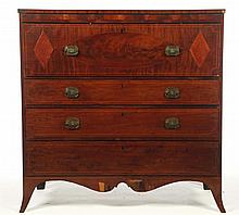 LATE HEPPLEWHITE CHEST OF DRAWERS.