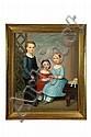 TRIPLE PORTRAIT OF CHILDREN (AMERICAN SCHOOL, MID 19TH CENTURY).
