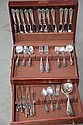 SET OF AMSTON STERLING SILVER FLATWARE.
