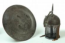 HELMET AND SHIELD.