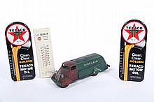 FOUR PETROLEUM INDUSTRY ADVERTISING ITEMS.
