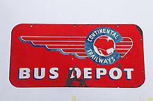 BUS DEPOT SIGN.