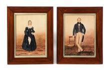 TWO PORTRAITS BY JOHN RUBENS SMITH (ENGLAND/NEW YORK, 1775-1849).