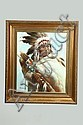 PORTRAIT OF AN AMERICAN INDIAN BY TROY DENTON (AMERICAN, 20TH CENTURY)., Troy Denton, Click for value