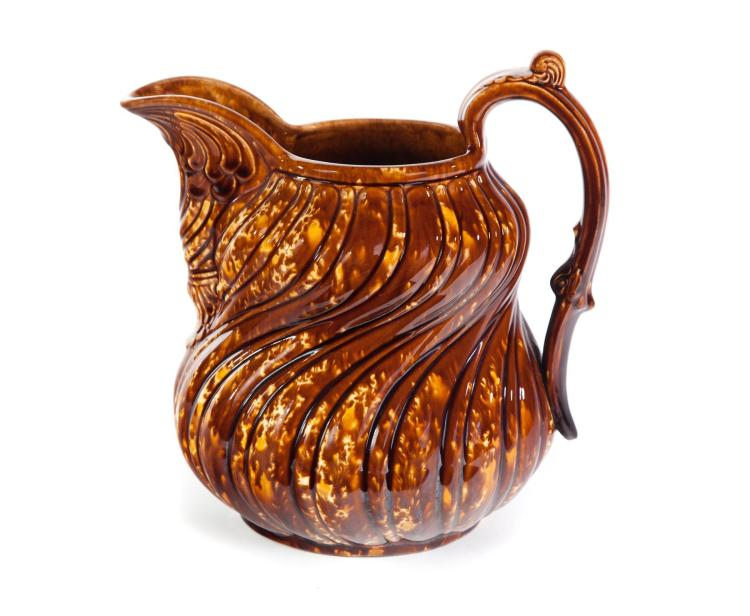BENNINGTON FLINT ENAMEL PITCHER.