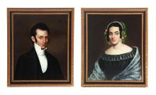 PAIR OF PORTRAITS (AMERICAN SCHOOL, 2ND QUARTER-19TH CENTURY).